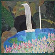 Behind The Waterfall Print by Aisha Lumumba