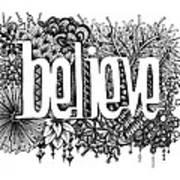 Believe Print by Christina Meeusen
