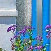 Belmont Shore Blue Print by Gwyn Newcombe