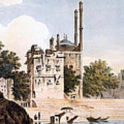 Benares On The Ganges Print by William Hodges