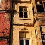 Beyoglu Old Houses 01 Print by Rick Piper Photography