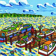 Big Dock - Cedar Key Print by Mike Segal