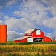 Big Red Barn Print by Marty Koch