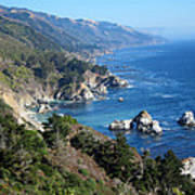 Big Sur Coast Ca Print by Debra Thompson