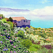 Big Sur Cottage Print by Mary Helmreich