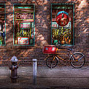 Bike - Ny - Chelsea - The Delivery Bike Print by Mike Savad