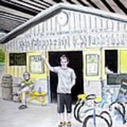 Bike Pittsburgh Print by Albert Puskaric