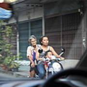 Bikes - Bangkok Thailand - 01131 Print by DC Photographer