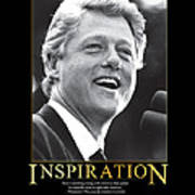 Bill Clinton Inspiration Print by Retro Images Archive