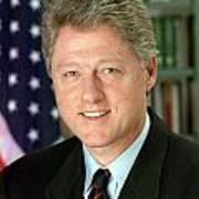Bill Clinton Print by Georgia Fowler