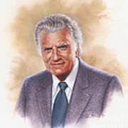 Billy Graham Evangelist Print by Dick Bobnick