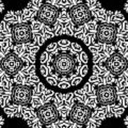 Black And White Medallion 10 Print by Angelina Vick