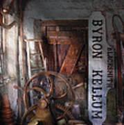 Black Smith - Byron Kellum Blacksmith Print by Mike Savad
