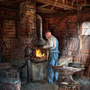 Blacksmith - The Importance Of The Blacksmith Print by Mike Savad