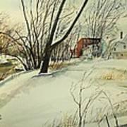 Blackstone River Snow  Print by Scott Nelson