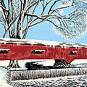 Blankets Of Winter Print by David Linton