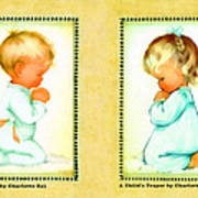 Bless Us All And A Childs Prayer Print by Charlotte Byj