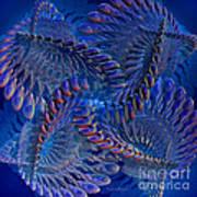 Blue 3 Print by Deborah Benoit
