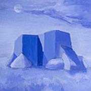 Blue Adobe Print by Jerry McElroy