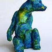 Blue Bear Print by Derrick Higgins