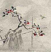 Blue Bird Print by Aged Pixel