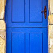 Blue Door Print by Frank Tschakert