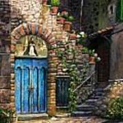 Blue Door Print by Tim Davis