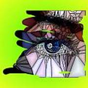 Blue Eye Print by HollyWood Creation By linda zanini