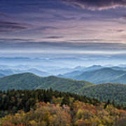 Blue Ridge Mountains Dreams Print by Andrew Soundarajan