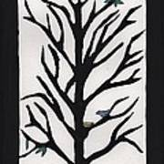 Bluebird In A Pear Tree Print by Barbara St Jean