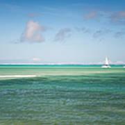 Blues. Mauritius Print by Jenny Rainbow