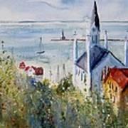 Bluff View St. Annes Mackinac Island Print by Sandra Strohschein