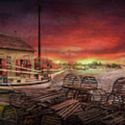 Boat - End Of The Season  Print by Mike Savad