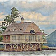 Boathouse  Print by Susan Leggett