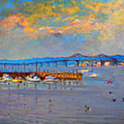 Boats In Piermont Harbor Ny Print by Ylli Haruni