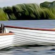 Boats Print by Stefan Petrovici