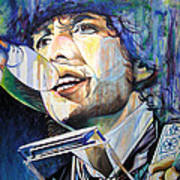 Bob Dylan Tangled Up In Blue Print by Joshua Morton