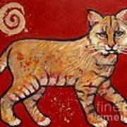 Bobcat Print by Carol Suzanne Niebuhr