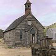 Bodie Church Print by Mel Felix