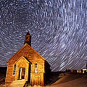 Bodie Star Trails Print by Cat Connor