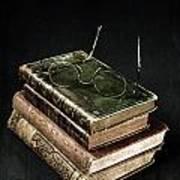 Books With Glasses Print by Joana Kruse