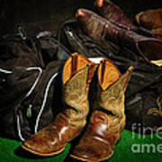 Boots And Bags Print by Bob Hislop