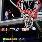 Boston Celtics' Basket Print by Mike Martin