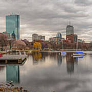 Boston Reflections Print by Linda Szabo
