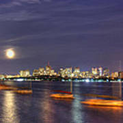 Boston Skyline From Memorial Drive Print by Joann Vitali