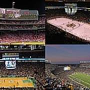 Boston Sports Teams And Fans Print by Juergen Roth