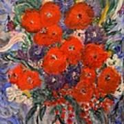 Bouquet Splash Print by Louise Burkhardt
