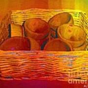 Bowls In Basket Moderne Print by RC deWinter