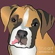 Boxer Puppy Pet Portrait  Print by Robyn Saunders