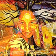 Brain Of Baobab Print by Fania Simon